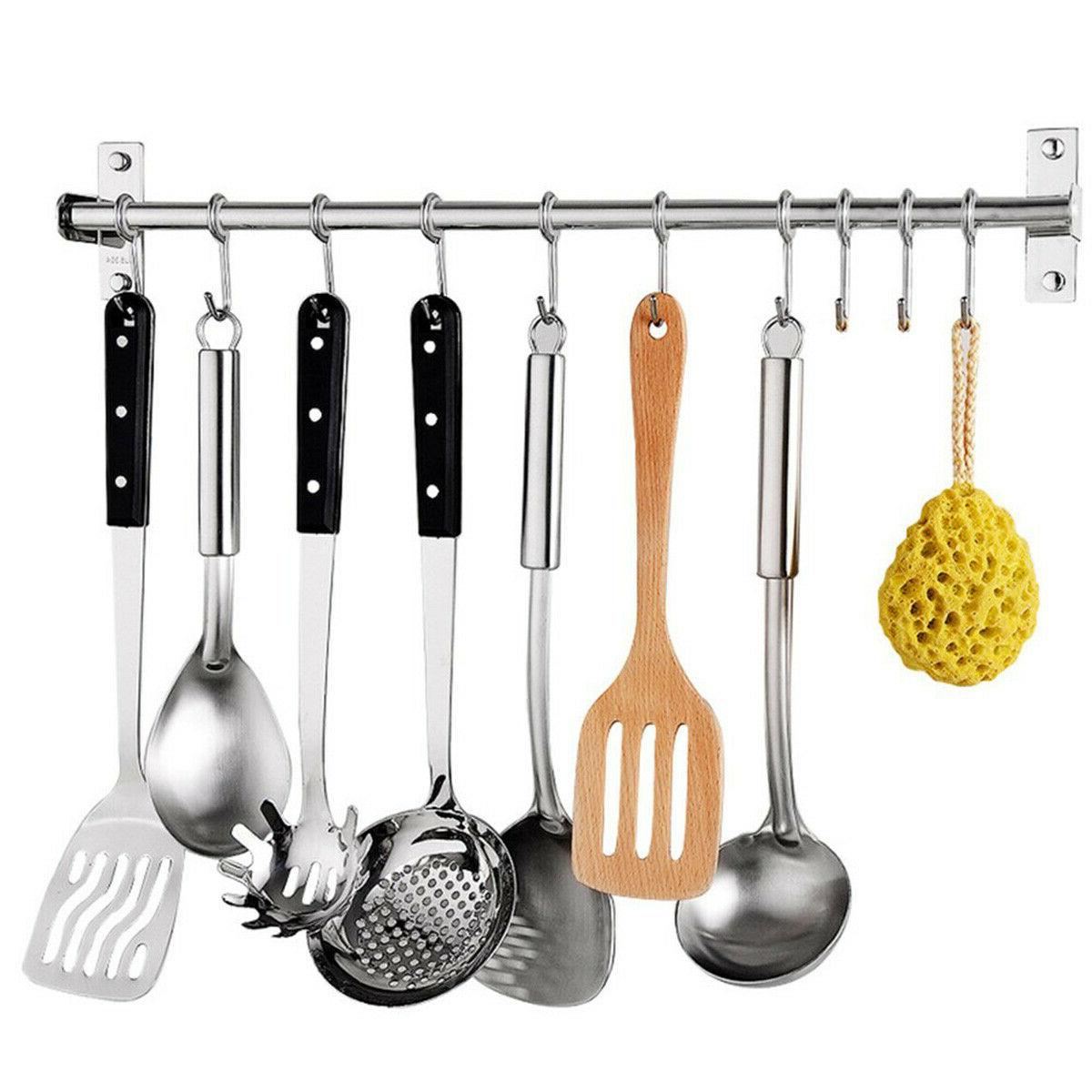 10 hooks kitchen utensil and cupboard wall