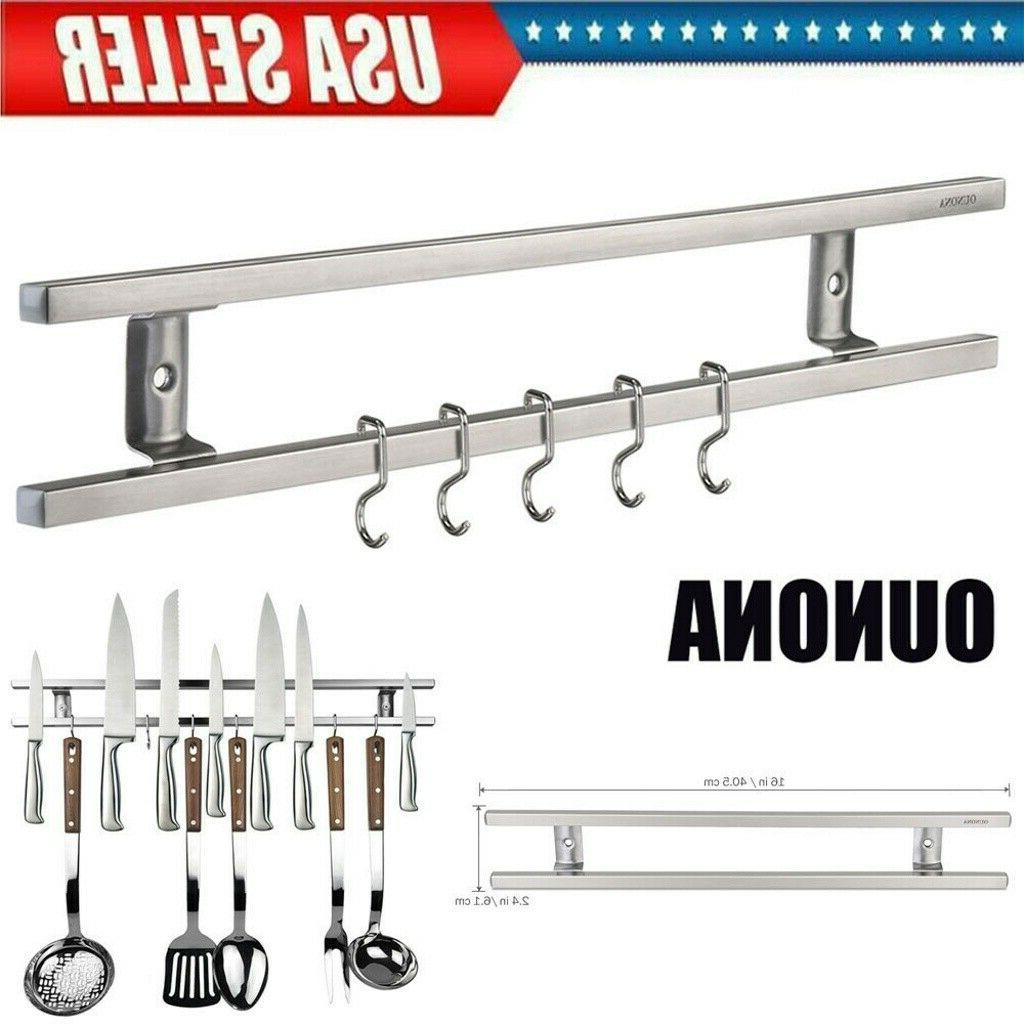 16 inch wall mount magnetic knife storage