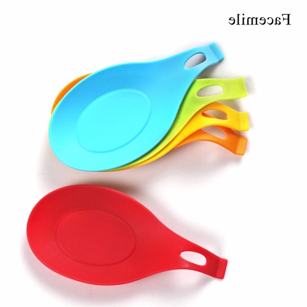 Facemile 1PCS Kitchen Silicone Insulation Spoon <font><b>Holder</b></font> Non-stick Silicone Mat