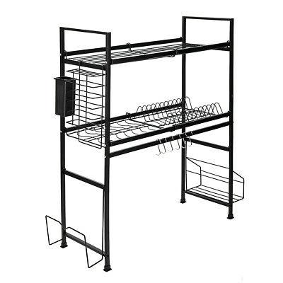 2Tier Over Dish Rack Kitchen Dishes Utensil