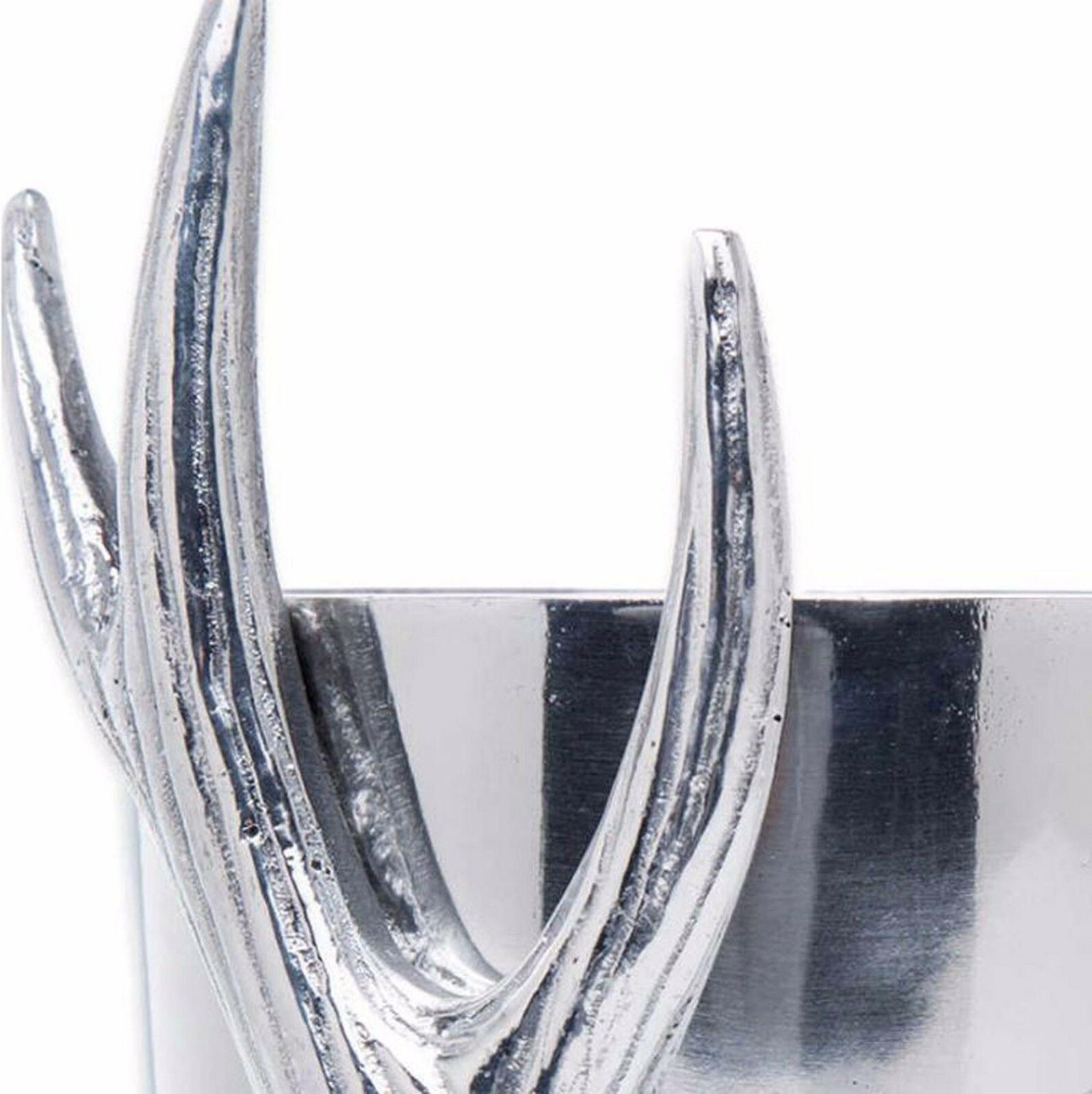 8-Inch Aluminum Antler Design Top Bottle/Utensil Holder