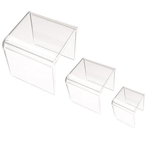 Clear Acrylic Riser Set of Three  by Super Z Outlet