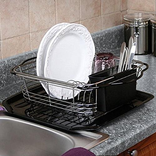 Farm Sink Expanding Drying Sink, Countertop or In Sink Drainer With Utensil