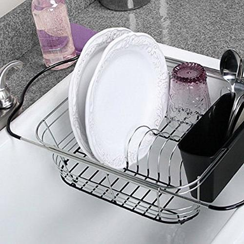 Drying Rack Over Sink, Countertop Sink Drainer With Utensil