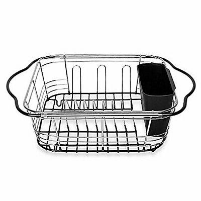 Farm Sink Expanding Dish Drying Rack Over the Sink, Countert