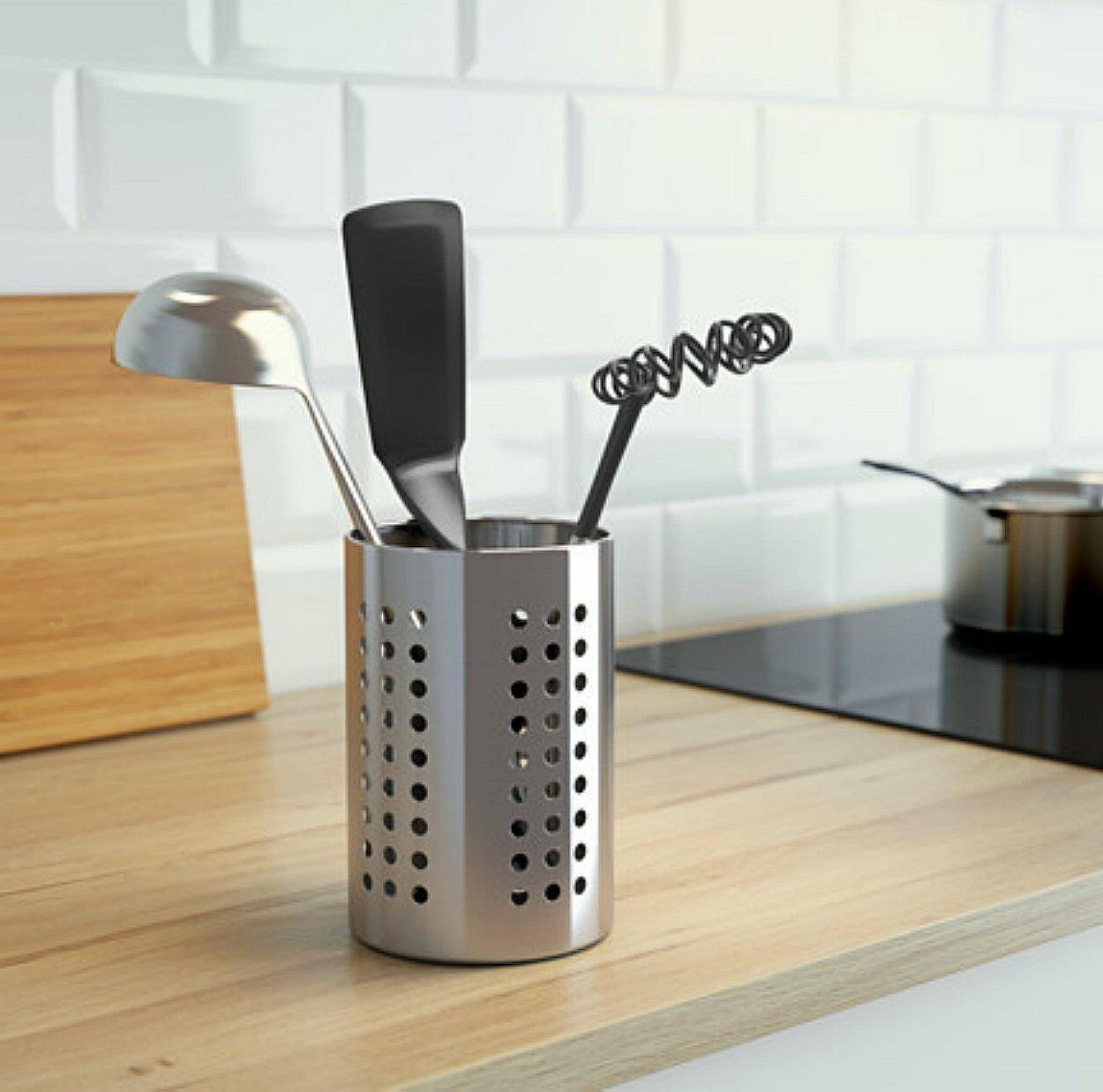 Large Caddy IKEA ORDNING Stainless Cooking Holder
