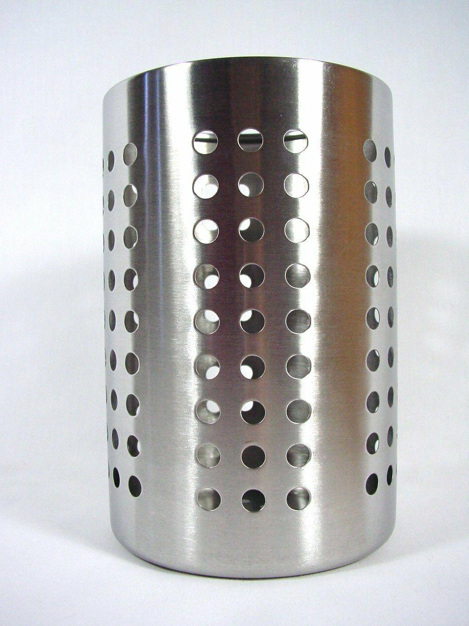 Large Kitchen Utensil Caddy IKEA ORDNING Stainless Steel Coo
