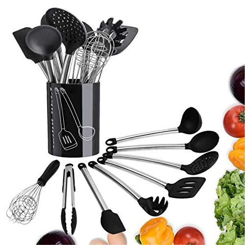 Tatufy Kitchen Set 9 Cooking Spatula Set, Nonstick Non-Scratch and Heat Resistant Set with Kitchen for