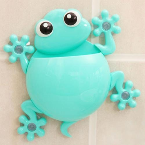 Animals Frog Silicone Holder Set Bathroom Hanger