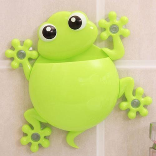 Animals Frog Holder Set Wall Bathroom Hanger