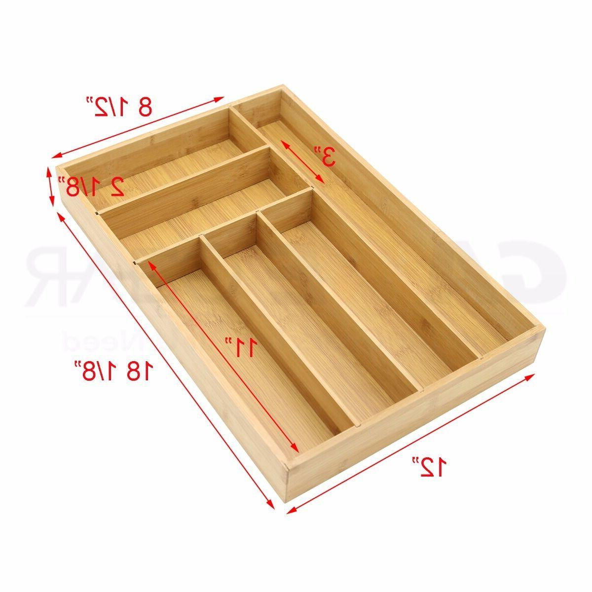 Bamboo Utensil Drawer Storage Holder