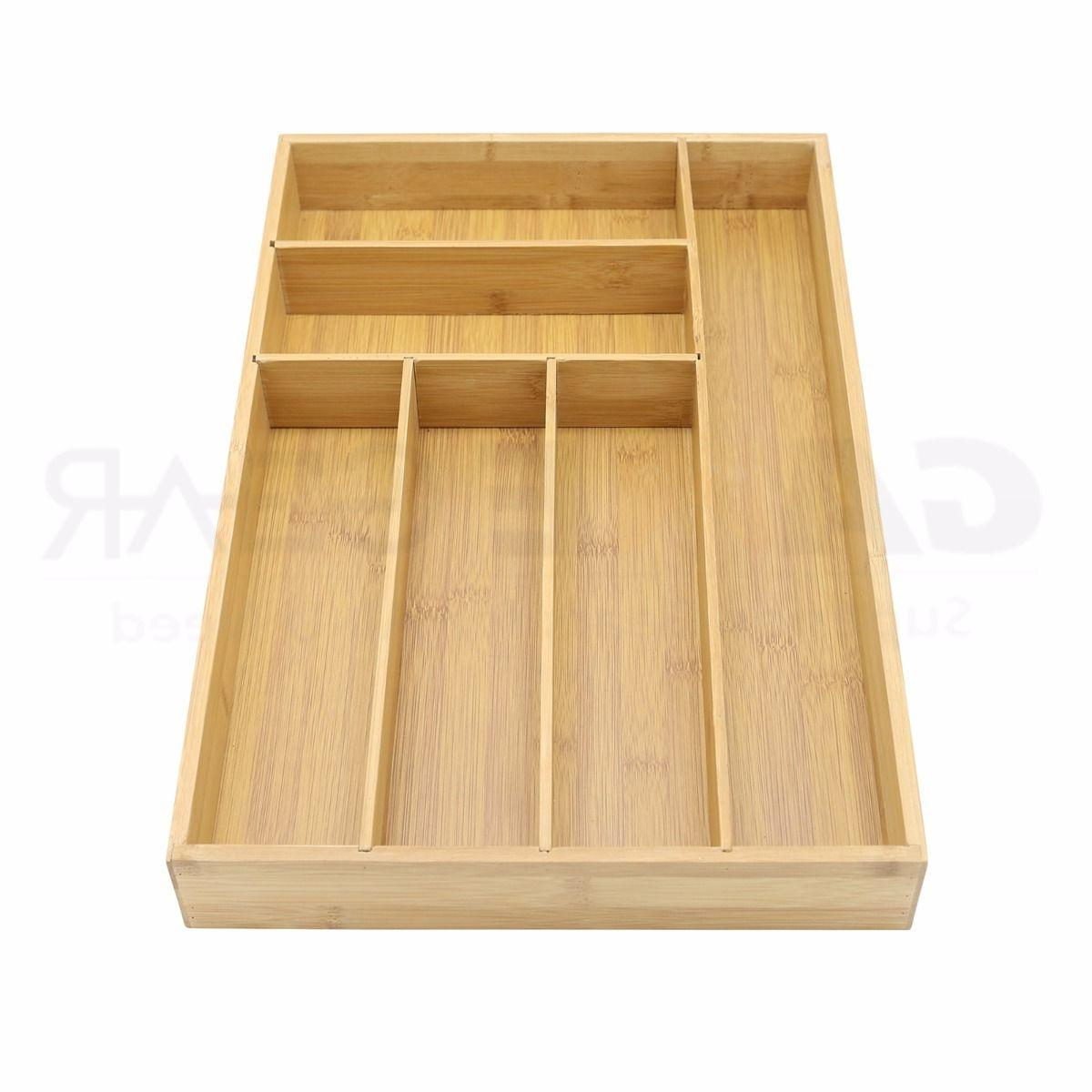 Bamboo Utensil Drawer Holder Divider