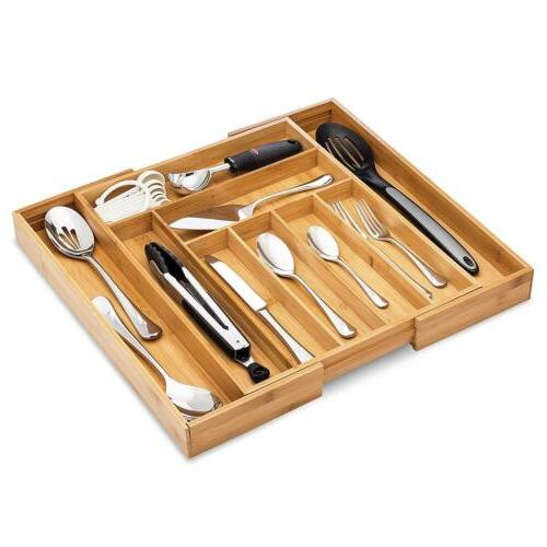 Bamboo Premium Cutlery and Utensil Tray 100% Pure