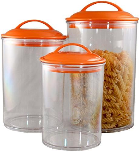 Calypso Lloyd Canisters, Set of Orange