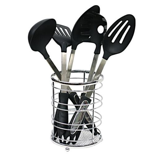 chrome flat wire cutlery and utensil holder