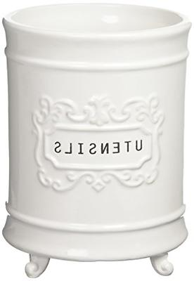 Mud Pie Utensil Holder, White