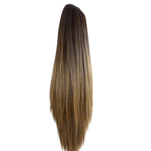 claw clip long ponytail hair