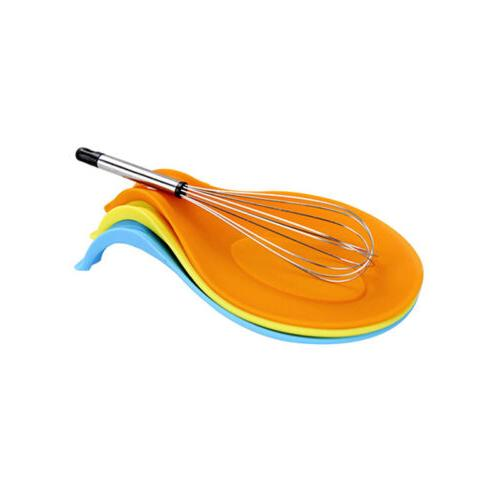 colors silicone heat resistant spoon kitchen utensil