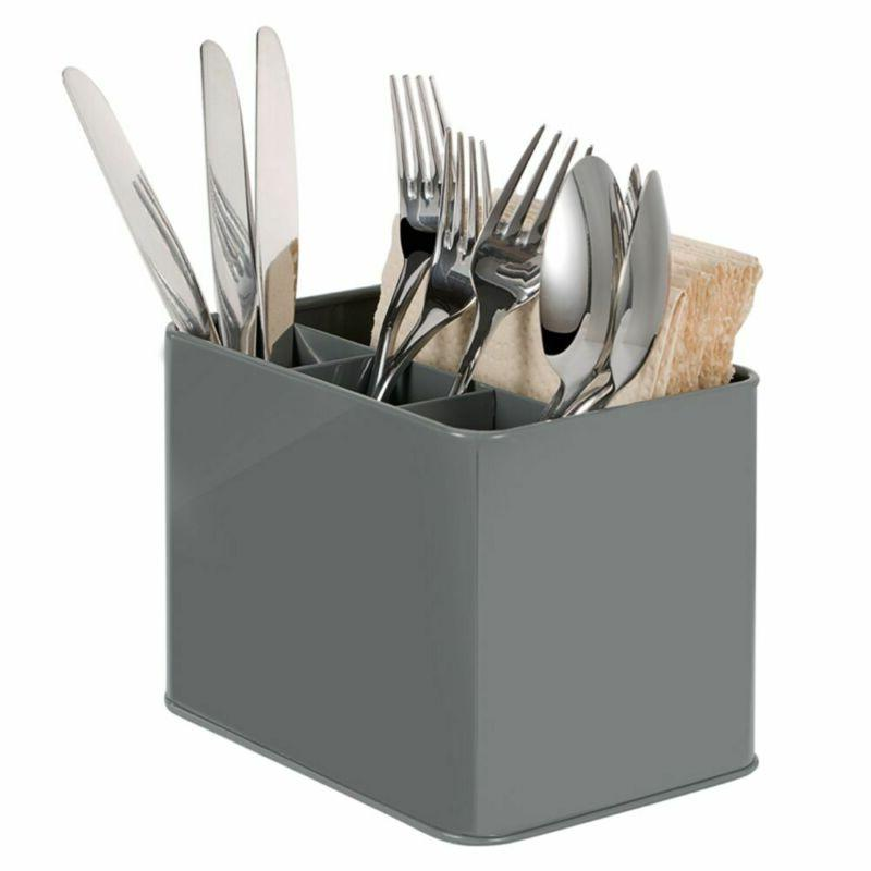 cutlery holder kitchen metal utensil storage drainer