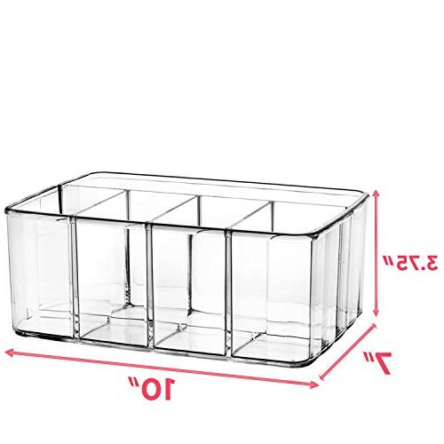 Drawer Storage 5 Compartment Holder for Dresser for Perfume Markers Supplies Toiletry Utensil