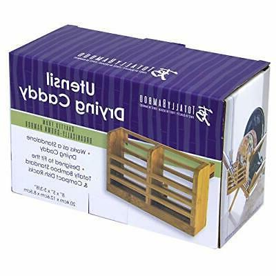 Eco Drying Utensil Holder Durable 100 Bamboo