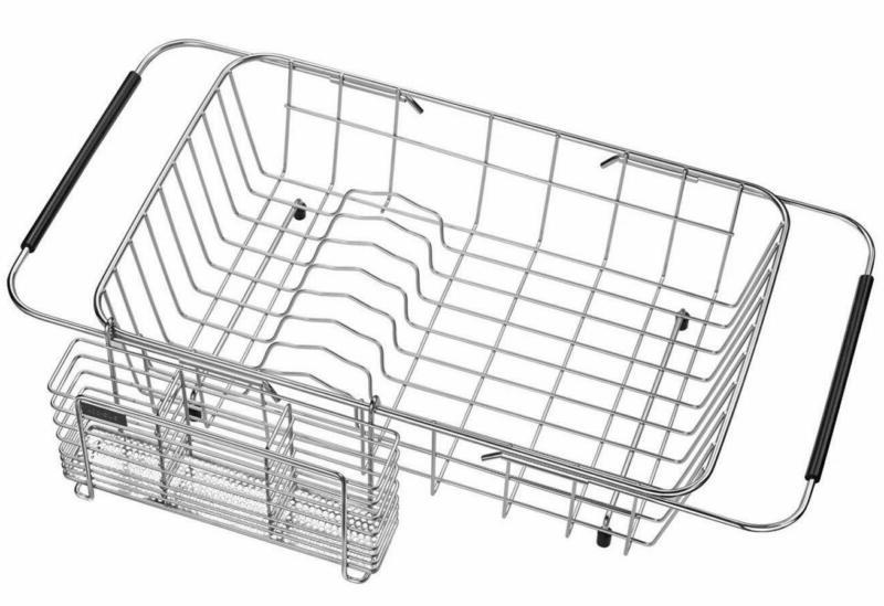 Expandable Dish Drying Rack And Utensil