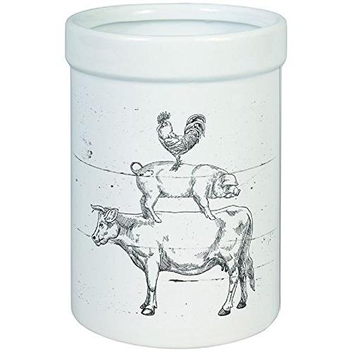 farm animals crock utensil kitchenware