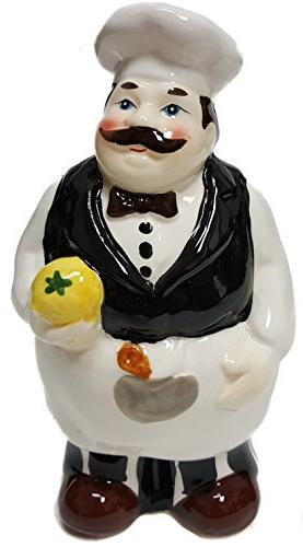 fat chef ceramic hand painted