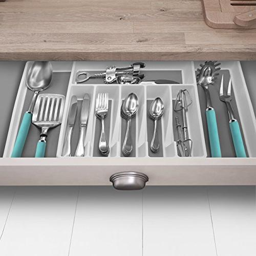 Sorbus Flatware Drawer Expandable Cutlery Drawer for Silverware, Serving Multi-Purpose Office, Bathroom Supplies