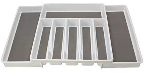 Sorbus Drawer Expandable Trays for Silverware, Serving Multi-Purpose Storage for Office,