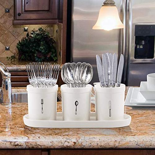 Emenest Organizer 4-pc Ceramic Utensil on Mugs on -