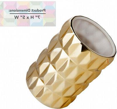 Hand Crafted Holder Glossy Utensil Crock