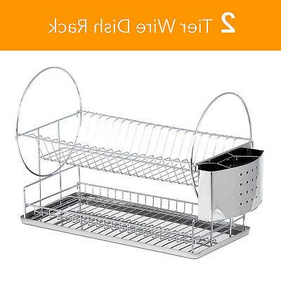 High Drainer W/ Steel Tray