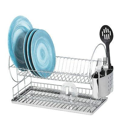 high quality chrome dish drainer rack w