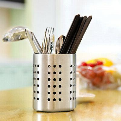 Utensil Holder Tableware Draining Storage Organizer Rack Kit