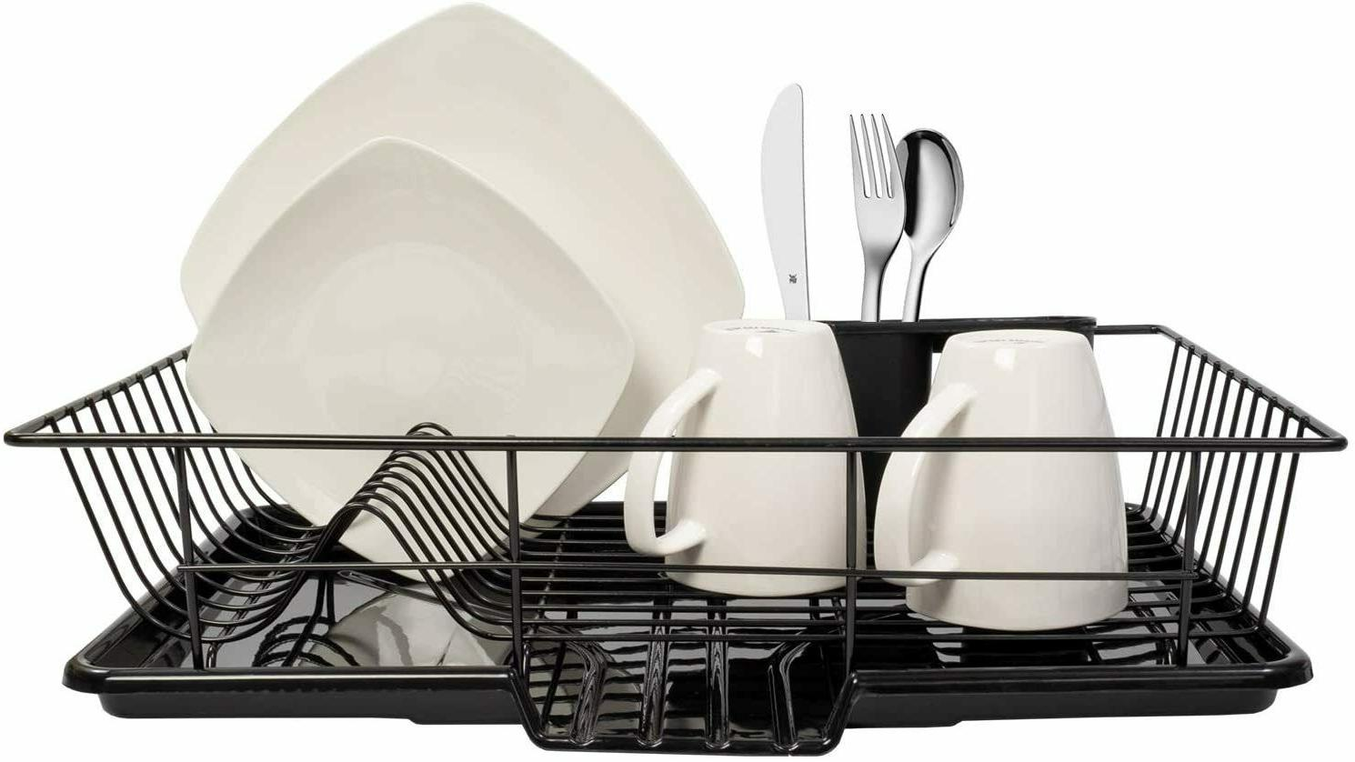 Dish Drainer Drain Board and Utensil Holder Simple Easy to U