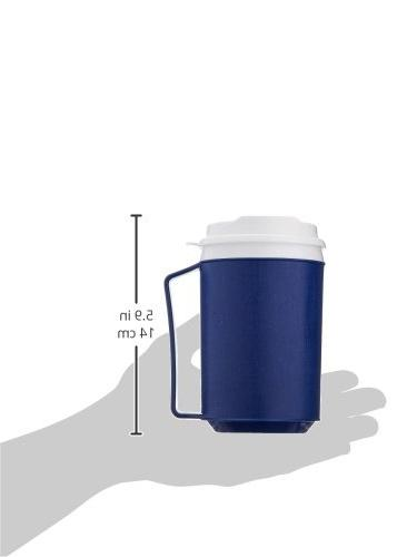 Sammons Preston Insulated Mug with Lid, Durable Container Hot and Cold Smoothies, Travel Coffee Cup Lid for Disabled, Handicapped, Weak Grip