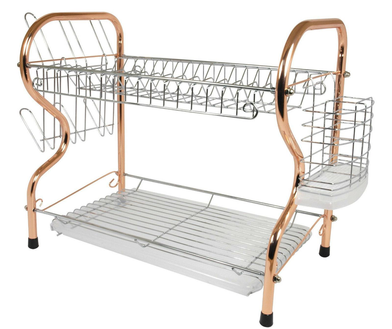 Better 16 Chrome Dish Rack with Utensil Holder, and Tray