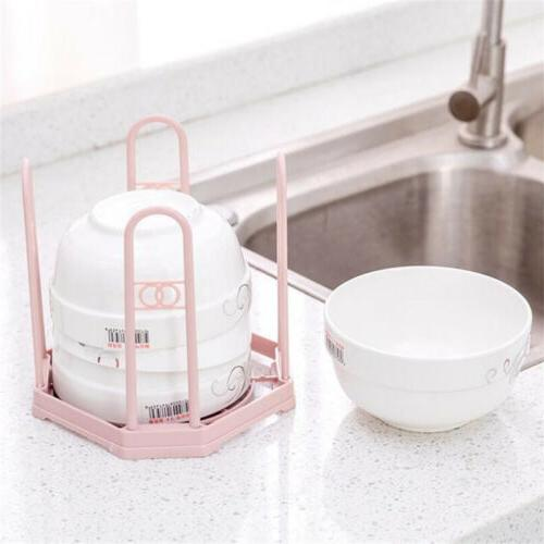 Plastic Dish Plate Utensil Rack Kitchen Sink Drainer Washing