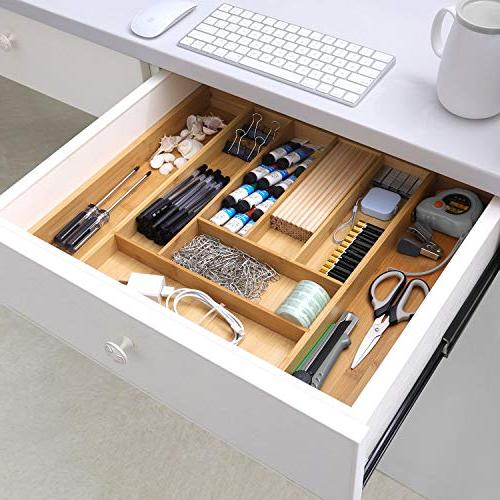 Kitchen Drawer Organizer, Expandable Silverware Cutlery & Fit Snugly into Any Drawer