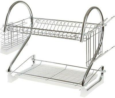 kitchen drying rack in chrome cup stand
