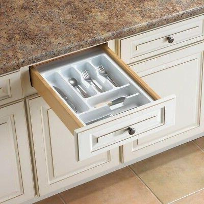 Drawer Organizer Kitchen Tableware Silverware Cutlery Utensi
