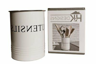 Kitchen White Crock Caddy - Great for Cooking