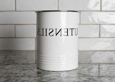 Kitchen White Crock - for Large Cooking