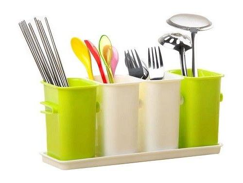Kitchen Utensil Holder Solid Plastic Organizer New Home Acce