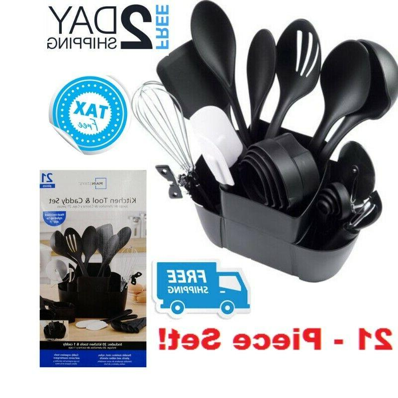 kitchen utensil set with holder stand plastic