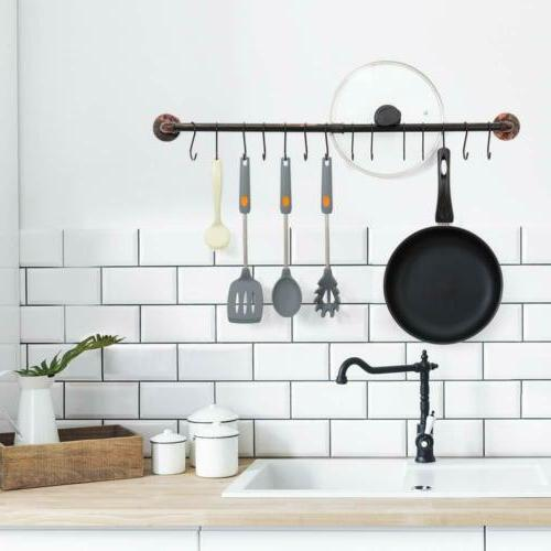 Kitchen Wall with 14 Hooks Utensil