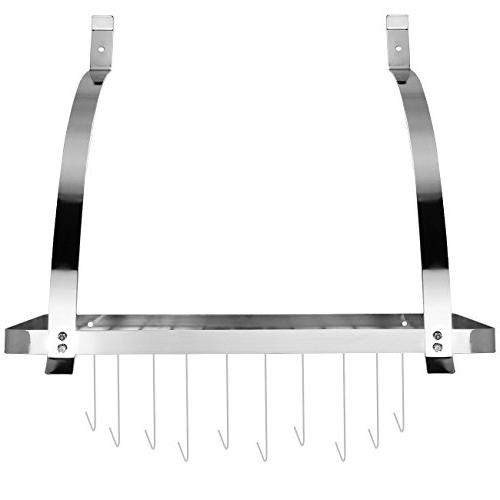 Sorbus Wall Pot Rack with Decorative Wall Rack Shelf Organizer Great for Kitchen Cookware, Utensils, Pans, Books, Household Items, Bathroom