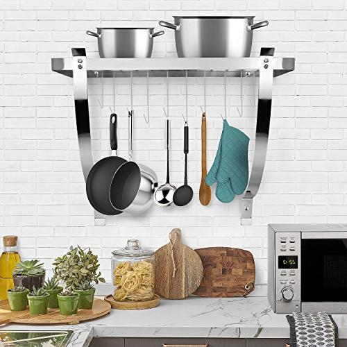 Sorbus Rack Decorative Wall Organizer Great for Cookware, Household