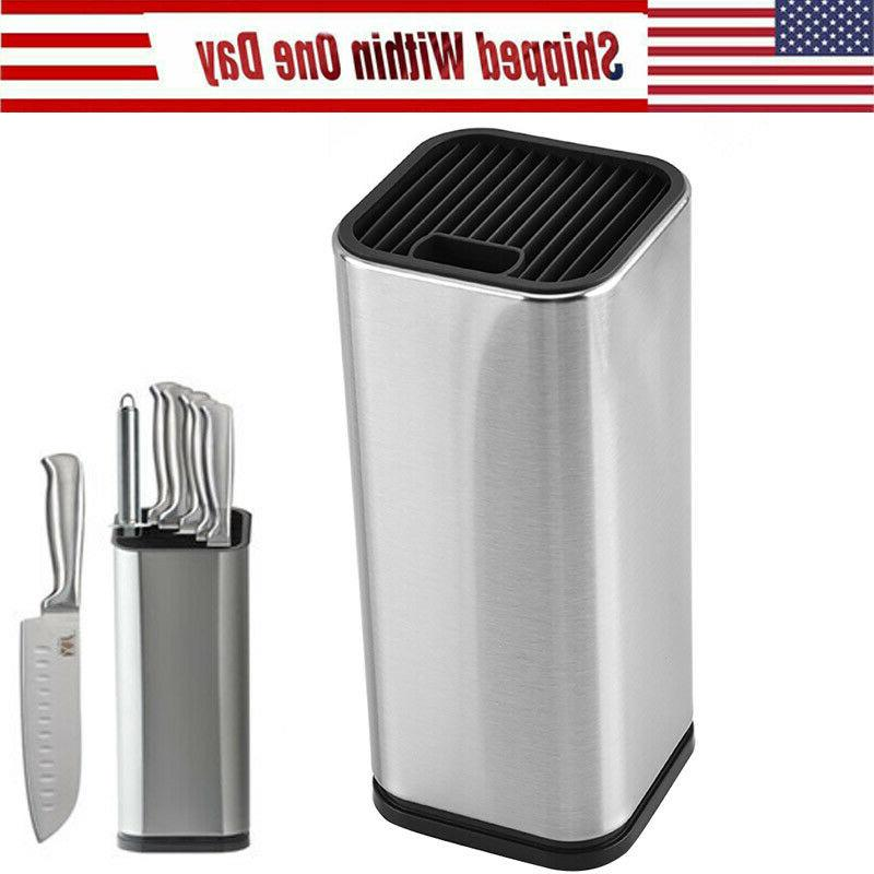 knife block holder stainless steel knives stand